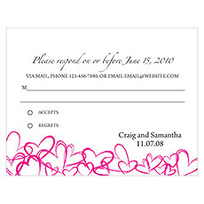 Contemporary Hearts RSVP