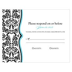 Love Bird Damask RSVP