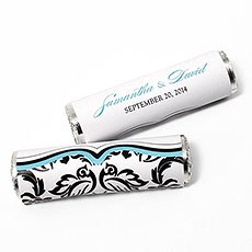 Love Bird Damask Candy Roll Wrap