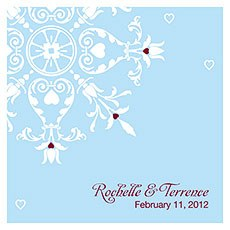 Winter Romance Square Tag