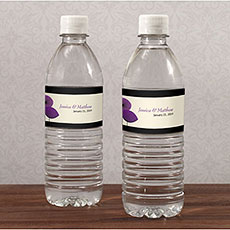 Romantic Elegance Water Bottle Label
