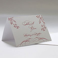 French Whimsy Thank You Card