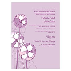 Pinwheel Poppy Invitation