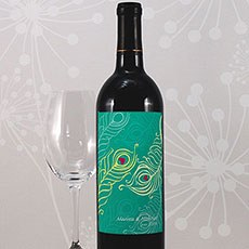 Perfect Peacock Wine Label