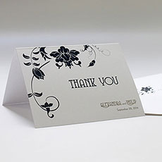 Floral Orchestra Thank You Card