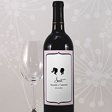 Sweet Silhouettes Wine Label
