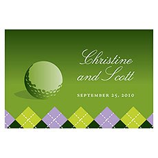 Golf Large Rectangular Tag