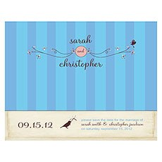 Whimsical Garden Save The Date Card