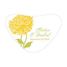 Zinnia Bloom Heart Container Sticker