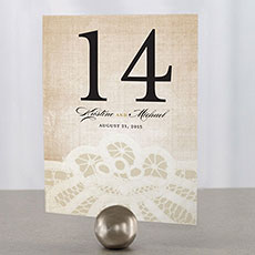 Vintage Lace Table Number