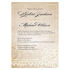 Vintage Lace Invitation