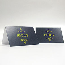 """Enjoy"" ""Thank you"" Blank Tent Card"