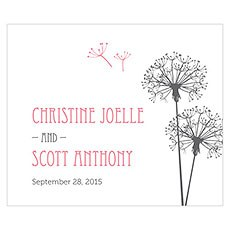 Dandelion Wishes Rectangular Label