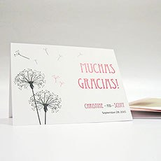 Dandelion Wishes Thank You Card