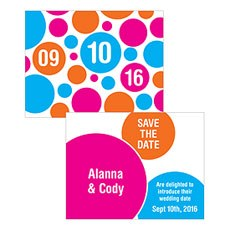 Retro Pop Save The Date Card