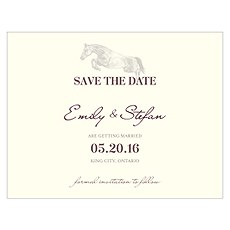 Equestrian Love Save The Date Card