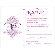 Fanciful Monogram RSVP