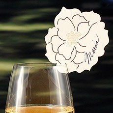Laser Expressions Peony Die Cut Card
