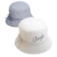 """Bride"" Angora Down Brim Hat"
