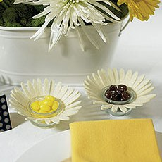 Felt Daisy Candle Holders