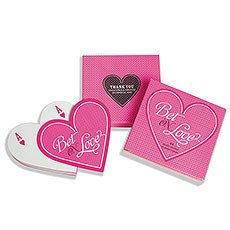 """Bet on Love"" Heart Shaped Playing Cards"