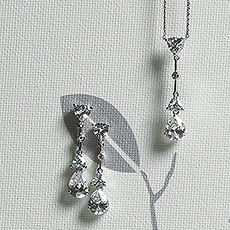 Cubic Zirconia Pear Drop Jewellery