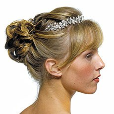 Garden Tiara in Silver with White Pearls