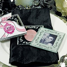 Glass Mirror Photo Frame Coaster Set