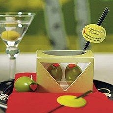 Matrimonial Martini Mini Olive Candles