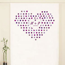 Rainbow Heart Personalized Photo Backdrop