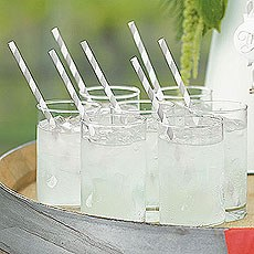 """Sippers"" Candy Striped Paper Straws"