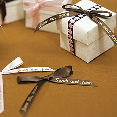 Personalized Ribbon formatted for Bows