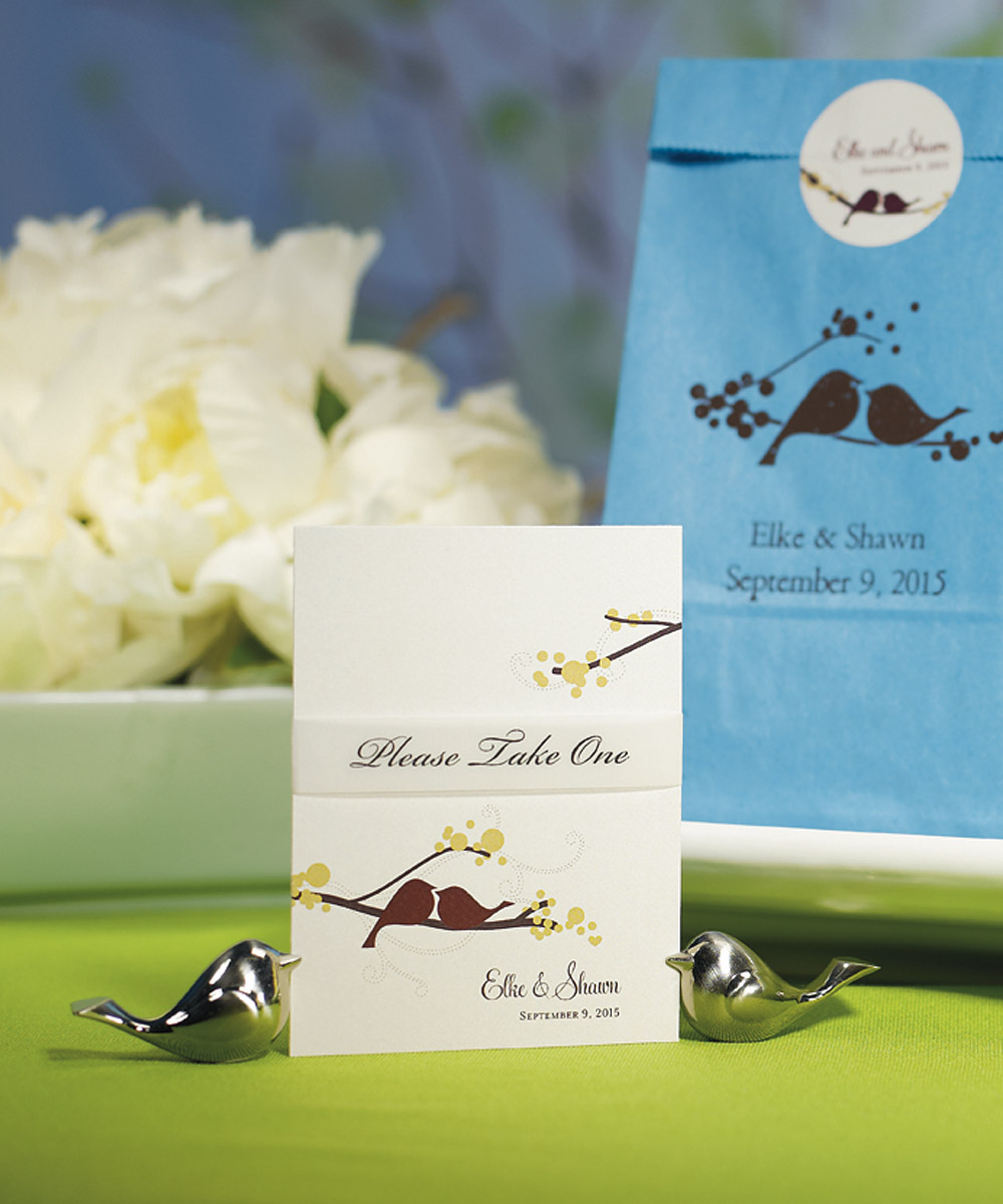 8 Love Birds Wedding Table Number Sign Holder Reception Place Card