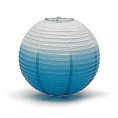 Ombre Coloured Round Paper Globe Lanterns